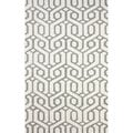 nuLOOM Hand-hooked Indoor/ Outdoor Trellis Grey Rug (5' x 8')