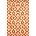 nuLOOM Handmade Modern Lattice Trellis Orange Rug (5' x 8')