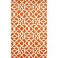 nuLOOM Handmade Modern Lattice Trellis Orange Rug (5' x 8')
