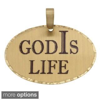 Simon Frank 'God Is Life' Religous Charm Pendant