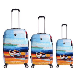 Neocover Caribbean Relaxation 3-piece Hardside Spinner Luggage Set