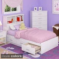 Sonax 2-piece Single Storage Bed Set with Bookcase Headboard