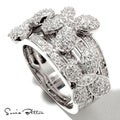 Sonia Bitton Sterling Silver Cubic Zirconia Butterfly Ring