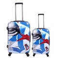 Neocover Eye See America 2-piece Hardside Spinner Luggage Set