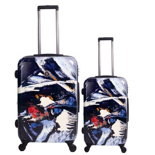 Neocover Midnight Chaos 2-piece Hardside Spinner Luggage Set