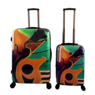 Neocover 'Music in Memphis' 2-piece Hardside Spinner Luggage Set