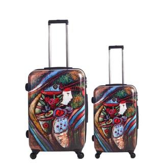 Neocover 'Lady Harvest' 2-piece Hardside Spinner Luggage Set