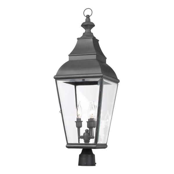 Bristol Grey Outdoor Post Lantern