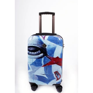 Neocover 'Eye See America' 20-inch Carry-on Hardside Spinner Luggage