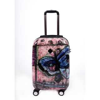 Neocover 'Traveling Butterfly' 20-inch Carry-on Hardside Spinner Luggage