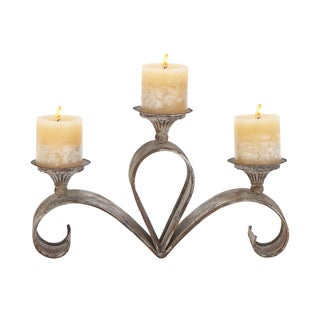 Metal Candle Holder 15 inches wide x 9 inches high