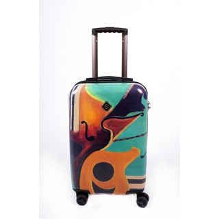 Neocover 'Music In Memphis' 20-inch Carry-on Hardside Spinner Luggage