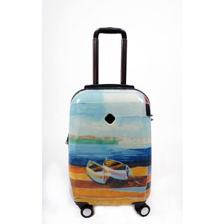 Neocover 'Caribbean Relaxation' 20-inch Carry-on Hardside Spinner Luggage