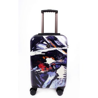 Neocover 'Midnight Chaos' 20-inch Carry-on Hardside Spinner Upright Suitcase
