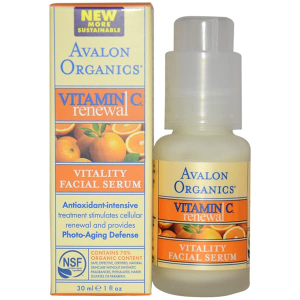 Avalon Organics Vitamin C Renewal Vitality 1-ounce Facial Serum