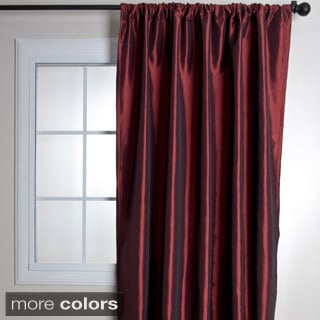 Classic Faux Silk Taffeta Curtain Panel