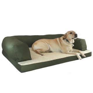 Hidden Valley Baxter Olive/ Natural Sherpa Couch Dog Bed