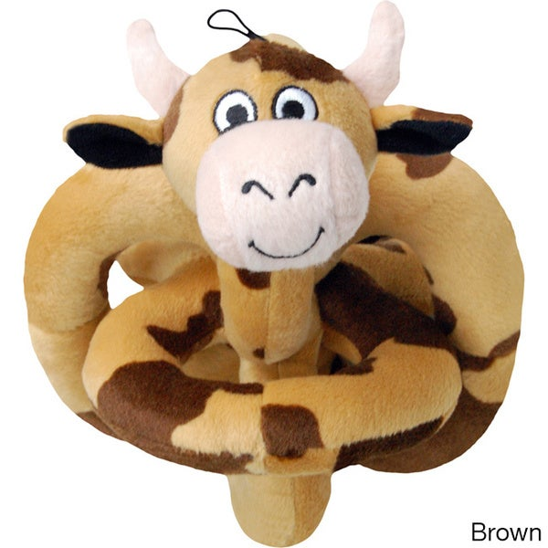Loopies Cow 6-inch Plush Dog Toy