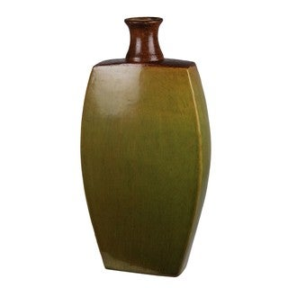 Privilege Large Drip Green Ceramic Vase