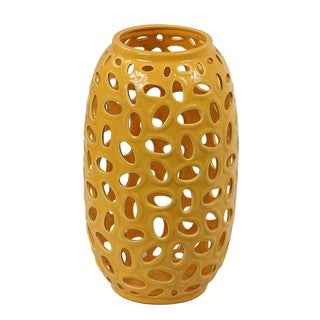 Privilege Large Canary Yellow Ceramic Vase