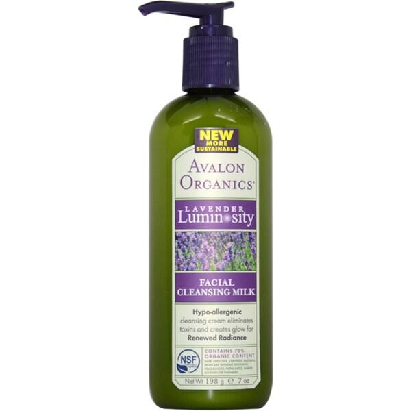 Avalon Organics Facial Cleansing Milk Lavender 7-ounce Cleanser