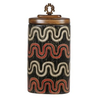Privilege Large Wave Design Brown Ceramic Vase