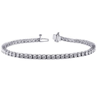 14k White Gold 7 1/2 TDW Diamond Tennis Bracelet (F-G, SI1-SI2)