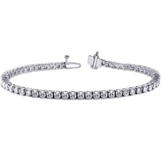 14k White Gold 8 1/4ct TDW Diamond Tennis Bracelet (F-G, SI1-SI2)