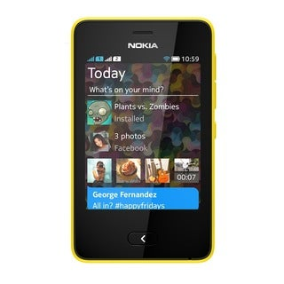 Nokia Asha 501 Unlocked GSM Touchscreen Yellow Cell Phone