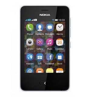 Nokia Asha 501 Unlocked GSM Touchscreen White Cell Phone