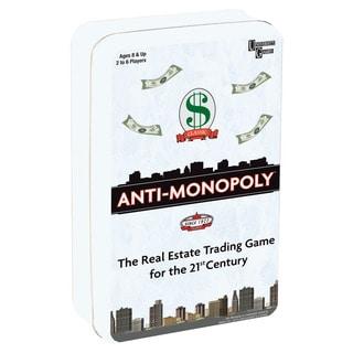 University Games Anti-Monopoly Game Travel Tin
