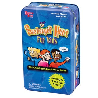 University Games Scavenger Hunt for Kids in a Tin