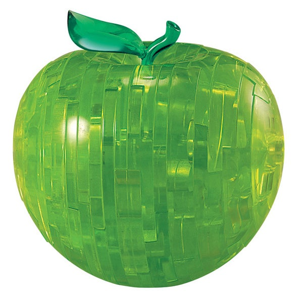 Bepuzzled Green Apple 44-piece 3D Crystal Puzzle