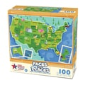 Faces and Places of the USA 100-piece Puzzle
