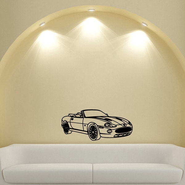 Jaguar Convertible Coupe Vinyl Wall Decal Sticker
