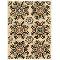 Trio Collection Light Suzani Beige Area Rug (8' x 10')