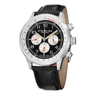 Stuhrling Original Men's Concorso Silhouette Swiss Quartz Strap Watch