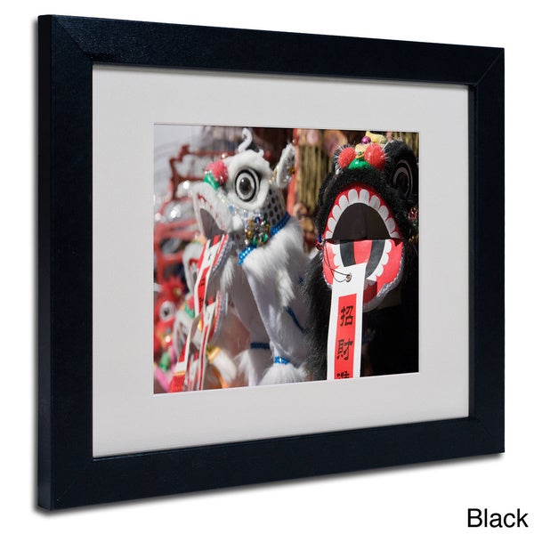 Yale Gurney 'Chinese New Year' Framed Matted Art