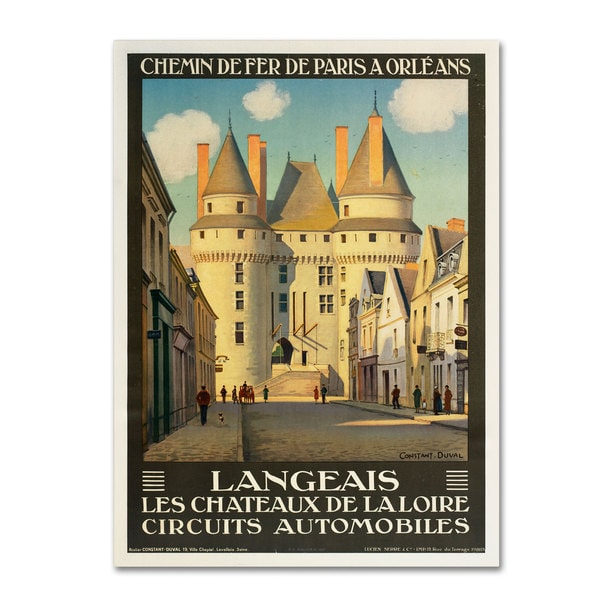 Unknown 'Les Chateaux de la Langeais' Canvas Art