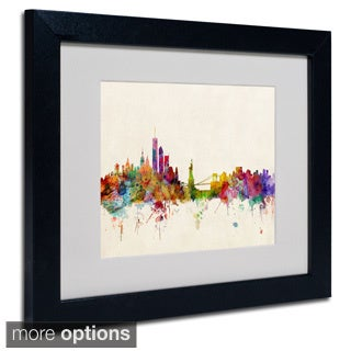 Michael Tompsett 'New York, New York' Framed Matted Art