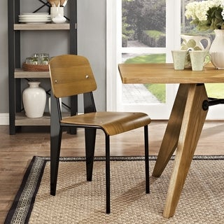 Jean Prouve Style Walnut Finish Standard Chair