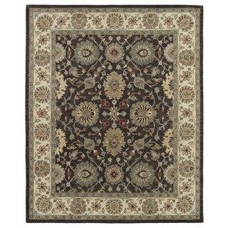 Hand-Tufted Joaquin Brown Kashan Wool Rug (10' x 14')