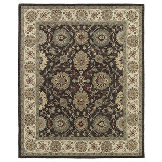 Hand-Tufted Joaquin Brown Kashan Wool Rug (10' x 14')