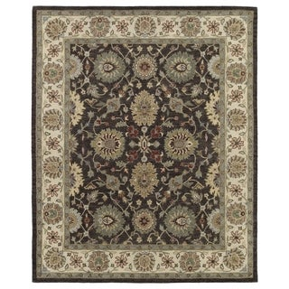 Hand-Tufted Joaquin Brown Kashan Wool Rug (9' x 12')