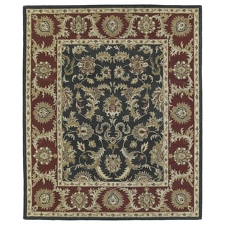 Hand-Tufted Joaquin Black Kashan Wool Rug (9' x 12')