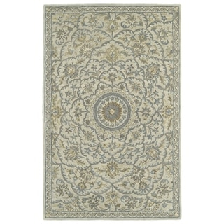 Hand-Tufted Joaquin Oatmeal Medallion Wool Rug (2' x 3')
