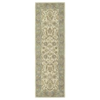 Hand Tufted Joaquin Beige Kashan Wool Rug 8 X 10