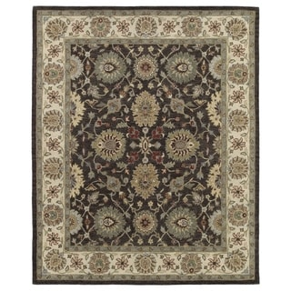 Hand-Tufted Joaquin Brown Kashan Wool Rug (5' x 7'9)