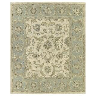 Hand-Tufted Joaquin Beige Kashan Wool Rug (5' x 7'9)