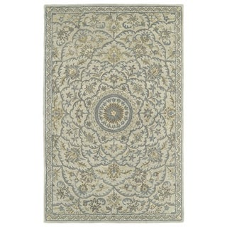 Hand-Tufted Joaquin Oatmeal Medallion Wool Rug (5' x 7'9)